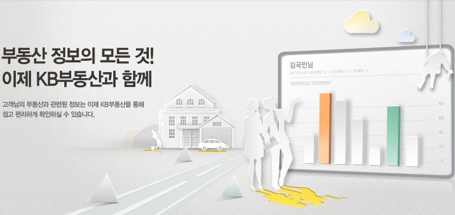 부동산 정보의 모든 것! 이제 KB부동산과 함께 고객님의 부동산과 관련된 정보는 이제 KB부동산을 통해 쉽고 편리하게 확인하실 수 있습니다.